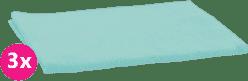 SCAMP Pieluszki bawełniane turkusowe 3 szt.