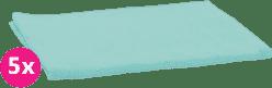 SCAMP Plienky bavlnené tyrkys 5ks