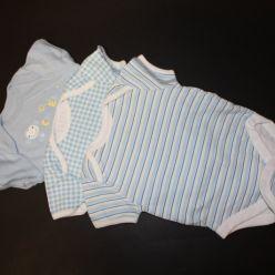 3pack body modré kr.rukáv