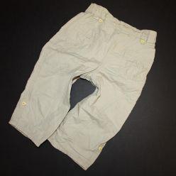 Plátěné béžové dívčí kalhoty