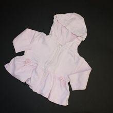 Mikina růžová s kapucou na zip