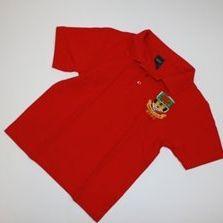 Tričko červené s límečkem