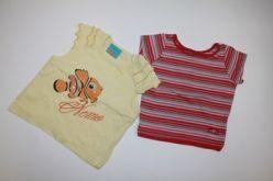 2x tričko pruhované a žluté s rybičkou Nemo