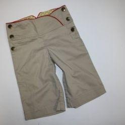 Béžové krátké letní kalhoty