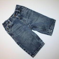 Džíny modré v pase guma a zapínání na patent