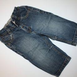 Džíny modré v pase regulační guma