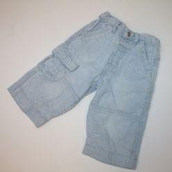 Modré manšestrové kalhoty s kapsami