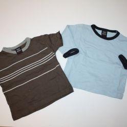 2 x tričko hnědé a modré NEXT