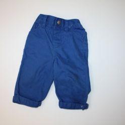 Kalhoty modré plátěné