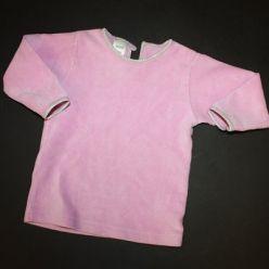 Růžové sametové tričko