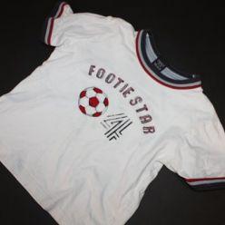 Triko bílé s nápisem a míčem