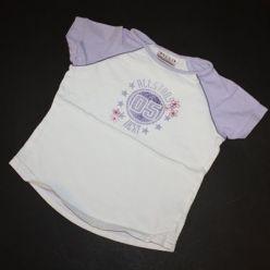 Triko bílé s fialovým nápisem
