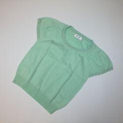 Tričko zelené se stříbrným lemem