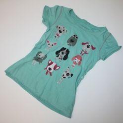 Tričko kr. rukáv modré s pejsky