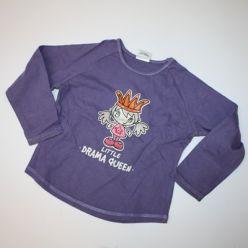 Tričko fialové dl. rukáv s holčičkou