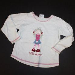 Tričko dl. rukáv bílé s holčičkou