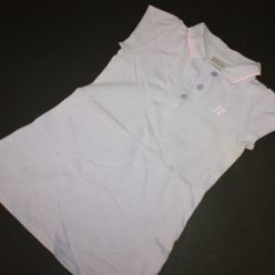 Tričko dlouhé s kr. rukávem fialové s límečkem