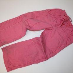Kalhoty růžové zateplené
