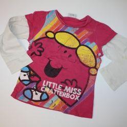 Tričko dl. rukáv růžové s obrázkem