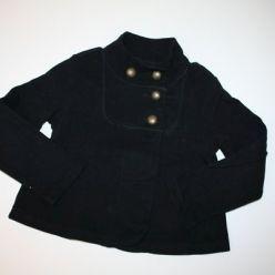 Kabátek černý na knoflíčky Next