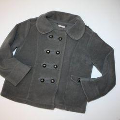 Kabátek trendový šedivý s knoflíčky