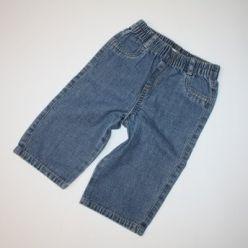 Džíny modré v pase na gumu