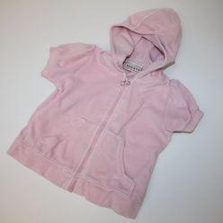 Růžové triko s kapucí semišové NEXT