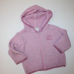 Růžový svetr s kapucí Next