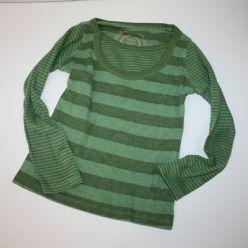 Tričko dl. rukáv zelené s pruhy Next