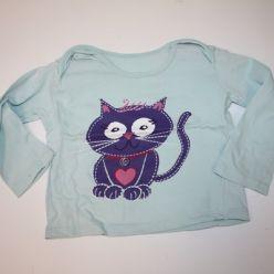 Modré triko s kočkou