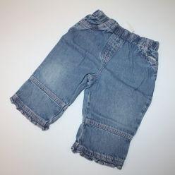 Kalhoty modré s růžovými švy Next