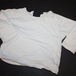 Krémové triko s dlouhým rukávem