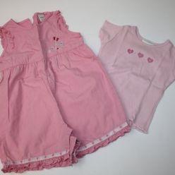 Souprava overal letní a tričko v růžovém Next