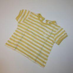 Tričko kr. rukáv pruhované žluto bílé F&F