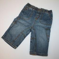 Kalhoty vyteplené modré džínové Next