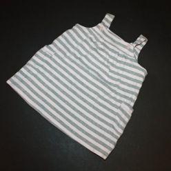 Tričko na ramínka pruhované růžovo šedé