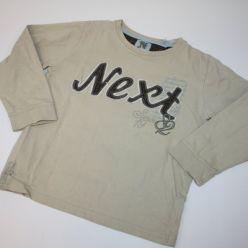 Béžové triko s nápisem NEXT