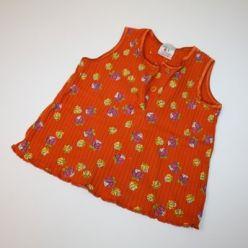 Tílko oranžové s kytičkami