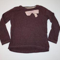 Tričko dl. rukáv s růžovou mašlí