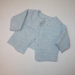 Svetřík modrý pletený