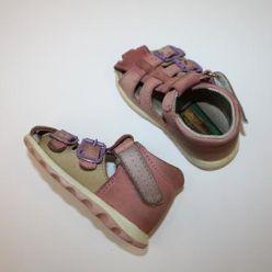 Sandálky růžové kotníkové