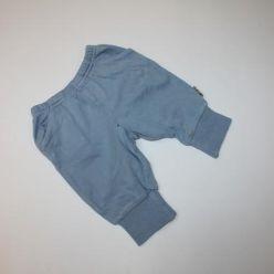 Modré tepláky v pase na gumu