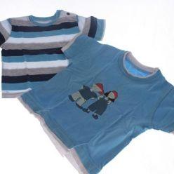 2 Ks proužkaté a modré triko