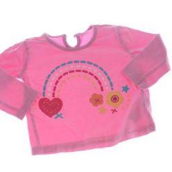 Růžové triko s duhou