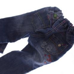 Modré džínové kalhoty s barevnými vzory NEXT