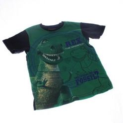Modro zelené triko s dinosaurem