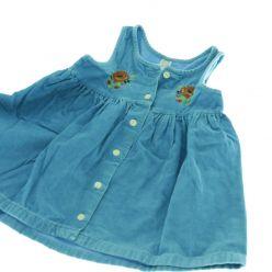 Manžestrové šaty modré