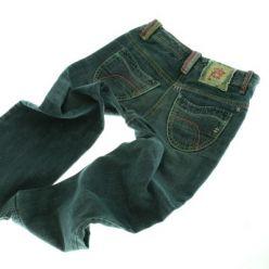 Modré džínové kalhoty s barevným švem NEXT