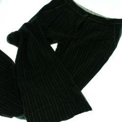 Černé kalhoty s proužkem NEXT