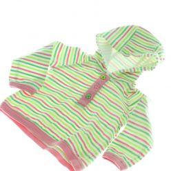 Zeleno růžová mikina F&F